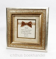 Fotoframe Faith hebrews 11:1 15.5x15.5cm