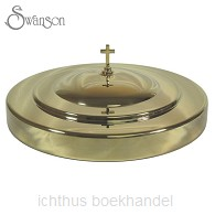 Communion cup tray cover gold