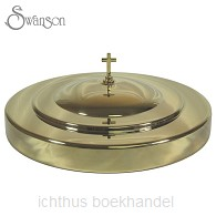 Communion bread plate cover gold