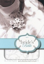 NIV brides bible white duotone floral