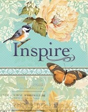 inspire bible leatherlike blue/creme